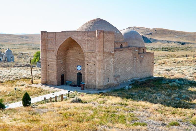 Mausoleo de Khoja Ahmed Yasawi, Turkestan, Kazajistán imagen de archivo libre de regalías