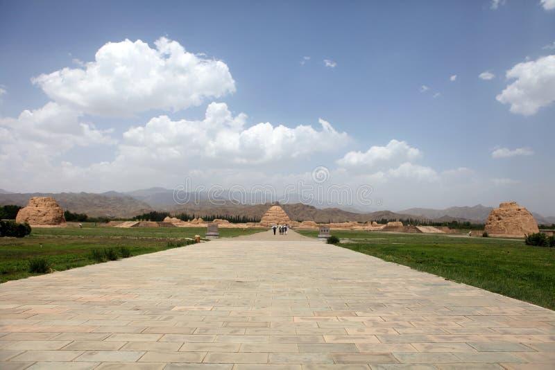 Mausoleo de la dinastía del xixia fotografía de archivo