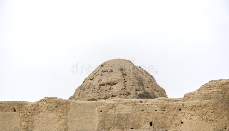 Mausoleo de la dinastía Xia Mausoleum occidental de Xixia imagenes de archivo