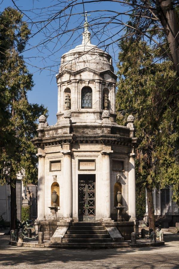 Mausoleo de la familia de Moretti foto de archivo