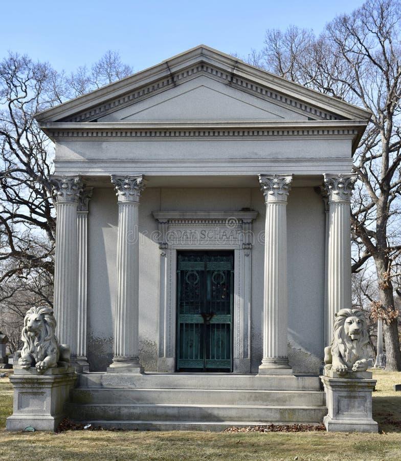 Mausoleo de la familia de Schaaf foto de archivo
