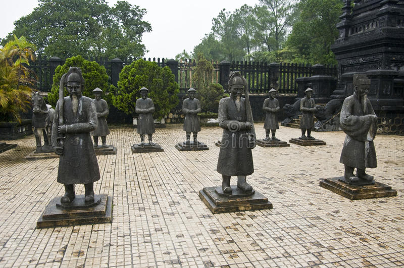 Mausoleo de los emperadores de Khai Dinh, tonalidad, Vietnam.   fotos de archivo libres de regalías