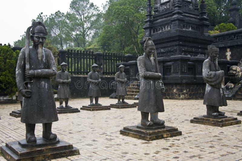 Mausoleo de los emperadores de Khai Dinh. Tonalidad, Vietnam. fotografía de archivo