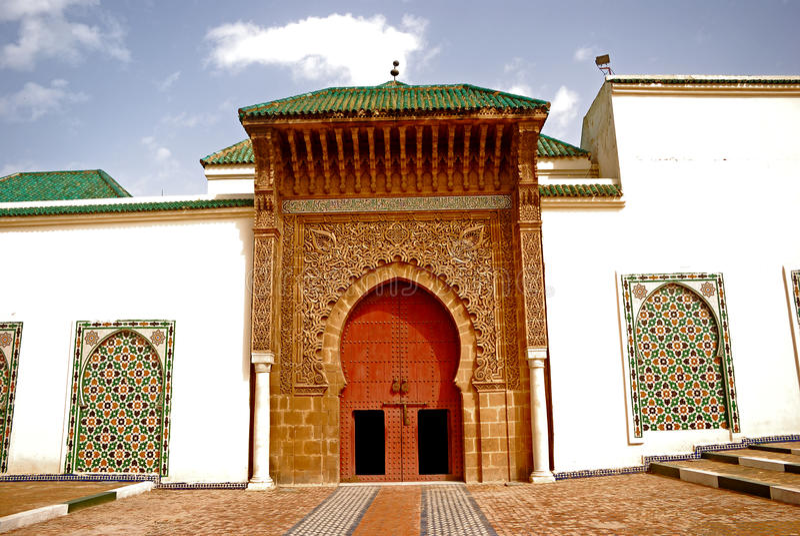 Mausoleo de Moulay Ismail, Meknes, Marruecos fotos de archivo