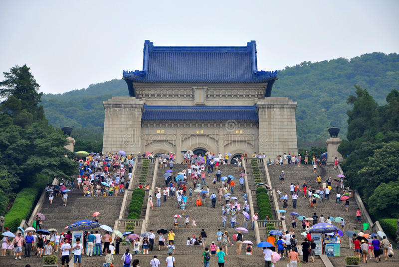 Mausoleo del Dr. Sun Yat-sen fotografía de archivo libre de regalías