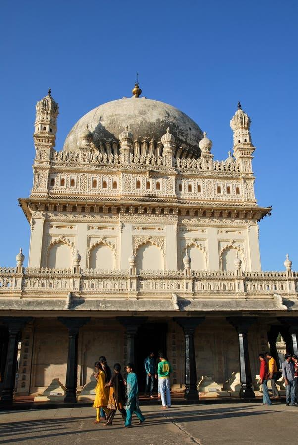 Mausoleo del sultano di Tipu in India fotografia stock