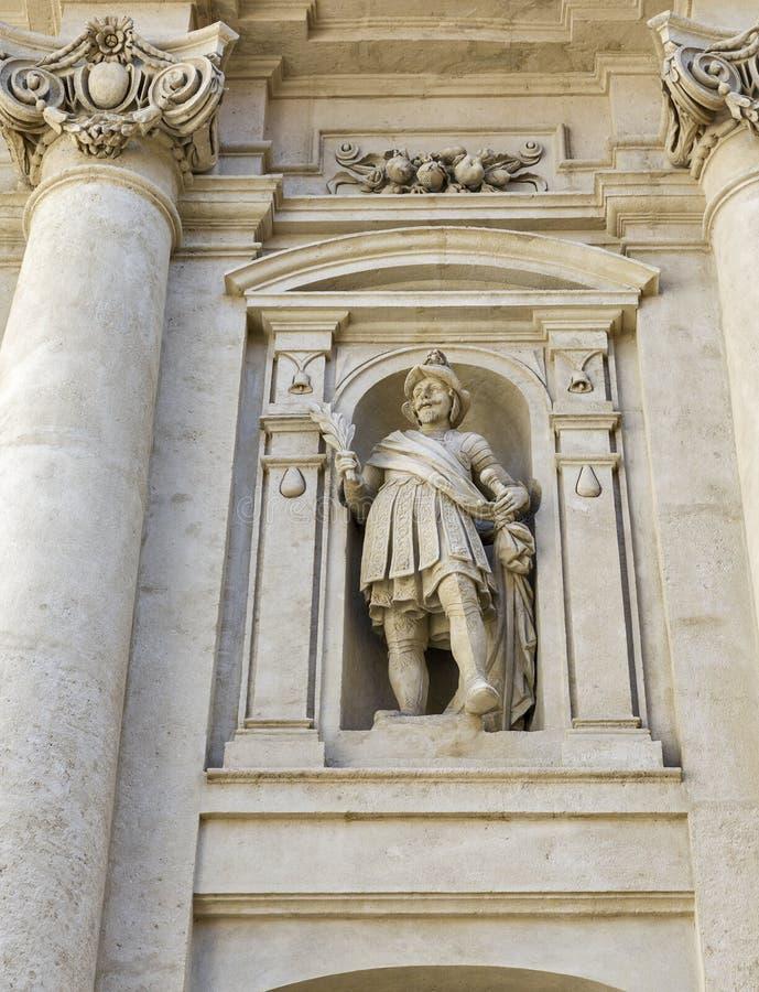 Mausoleo della statua della parete di Ferdinand a Graz, Austria immagini stock