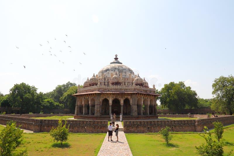 Mausoleo di Humayun a Delhi fotografie stock