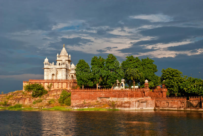 Mausoleo di Jaswant Thada a Jodhpur, Ragiastan, India immagini stock