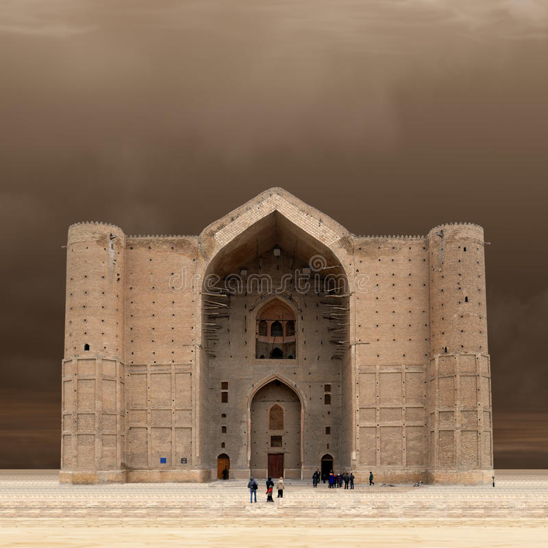 Mausoleo di Khoja Ahmed Yasawi fotografie stock libere da diritti
