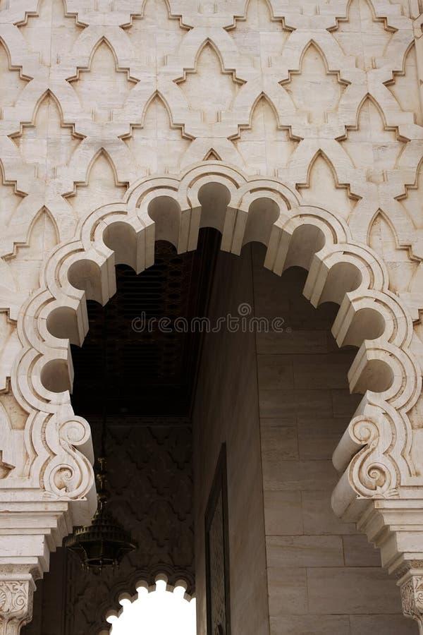 Mausoleo di Mohammed V a Rabat immagini stock