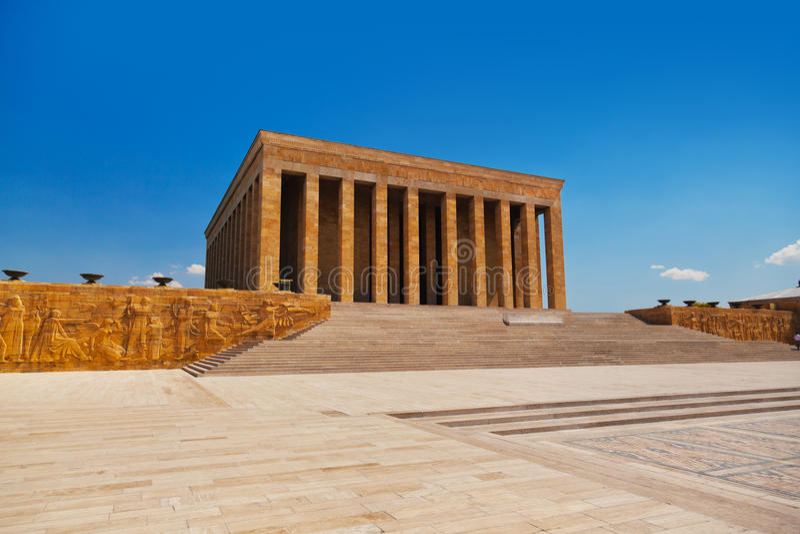 Mausoleo di Mustafa Kemal Ataturk a Ankara Turchia fotografie stock libere da diritti
