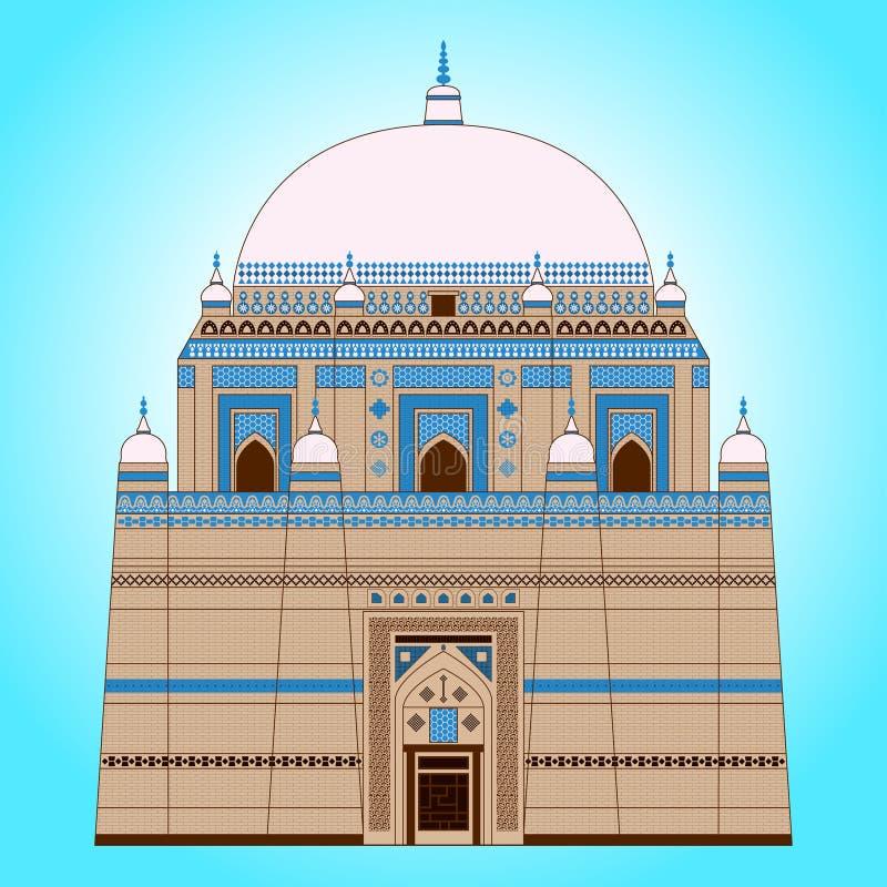 Mausoleo di Rukn-e-Alam dello scià illustrazione vettoriale