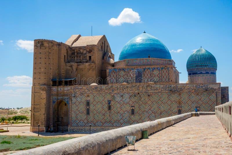 Mausoleo di Turkistan, il Kazakistan fotografia stock