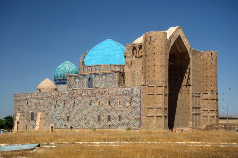 Mausoleo in Turkestan kazakhstan immagini stock libere da diritti