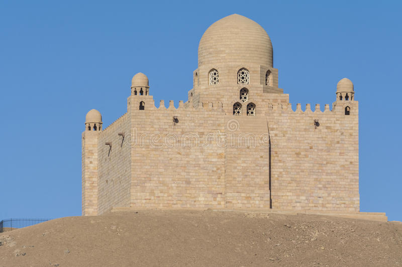The Mausoleum of Aga Khan in Aswan, Egypt. The Mausoleum of Aga Khan in Aswan (Egypt royalty free stock image