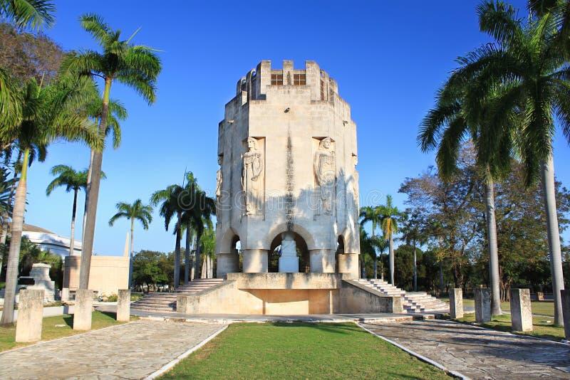 Mausoleum av den nationella hjälten Jose Marti arkivbild