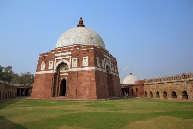 Mausoleum av Ghiyath al-buller Tughluq, Tughlaqabad fort, Delhi, in arkivbilder