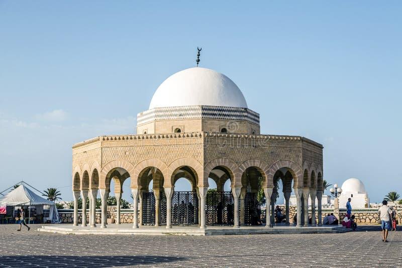 Mausoleum av Habib Bourgiba, den första presidenten av republiken royaltyfri foto