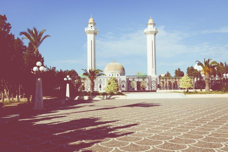Mausoleum av Habib Bourgiba, den första presidenten av Republiken Tunisien Monastir royaltyfri bild