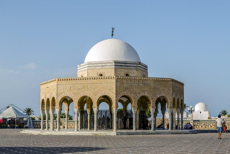 Mausoleum av Habib Bourgiba i Monastir royaltyfri fotografi