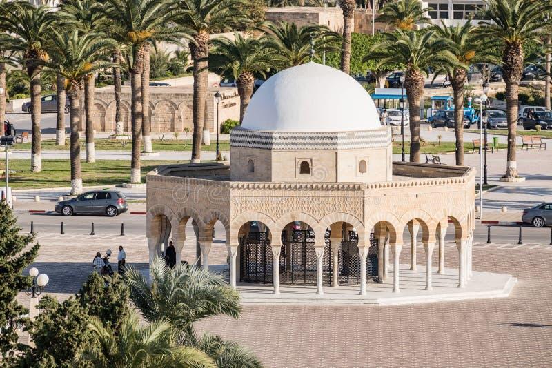 Mausoleum av Habib Bourgiba i Monastir tunisia arkivfoton