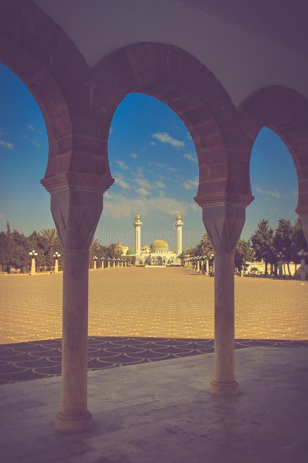 Mausoleum av Habib Bourgiba i Monastir, Tunisien royaltyfri fotografi