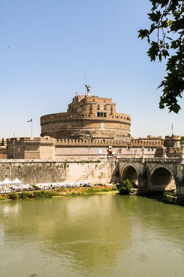 Mausoleum av Hadrian, Castel Sant ' Angelo royaltyfria foton