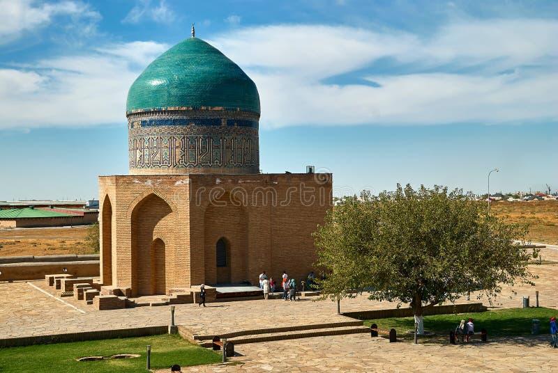 Mausoleum av Khoja Ahmed Yasawi, Turkestan, Kasakhstan royaltyfri bild