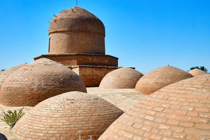 Mausoleum av Khoja Ahmed Yasawi, Turkestan, Kasakhstan arkivfoton