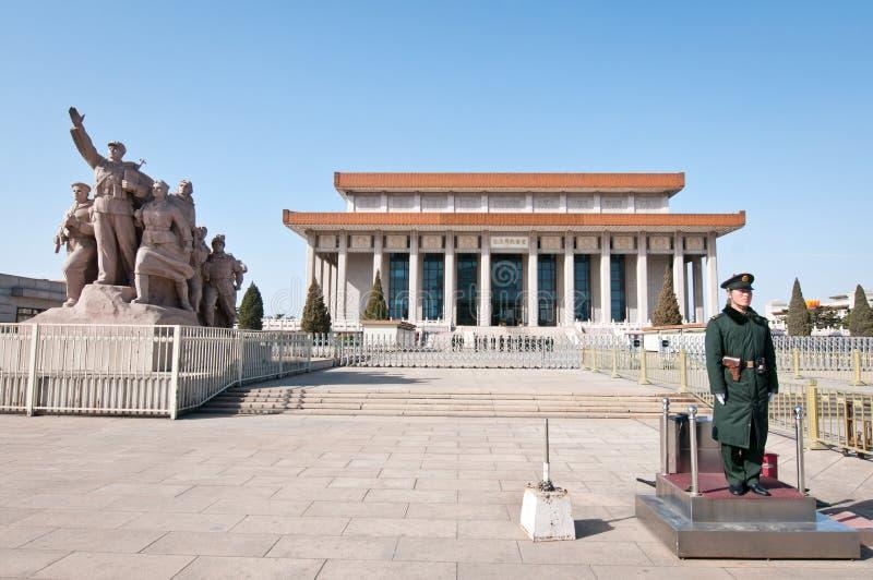 Mausoleum av Mao Zedong royaltyfria bilder
