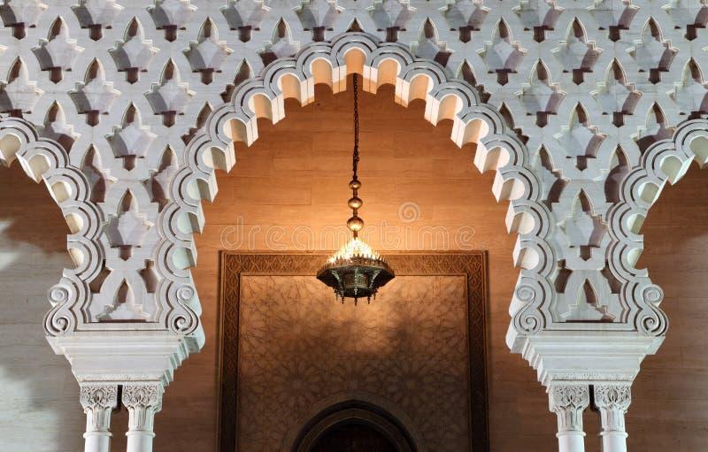 Mausoleum bij schemer, Rabat royalty-vrije stock afbeeldingen