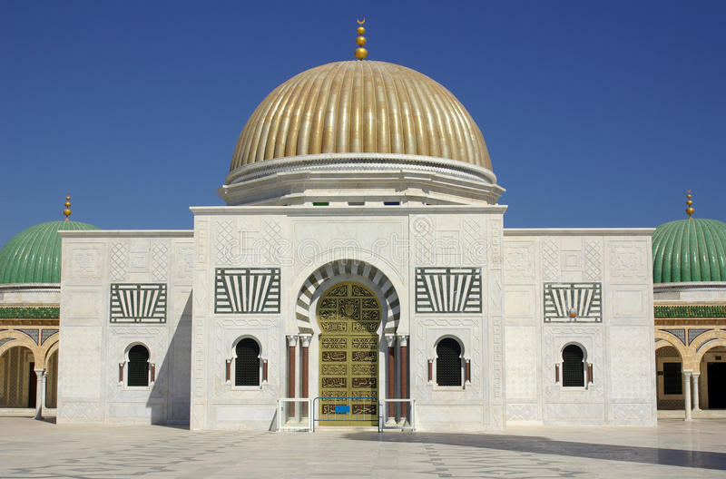 Mausoleum of Bourguiba in Tunisia in Africa. In summer day royalty free stock photos