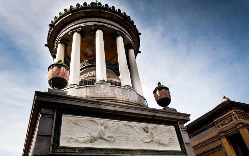 Mausoleum at Cementerio de La Recoleta Buenos Aires, Agentina royalty free stock image