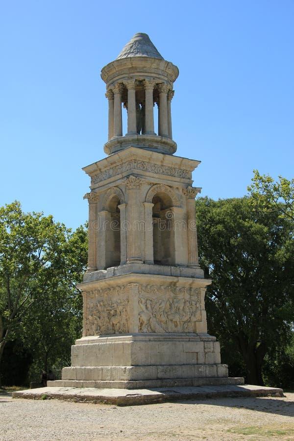 Mausoleum des Julii, Heiliges Remy de Provence lizenzfreie stockbilder