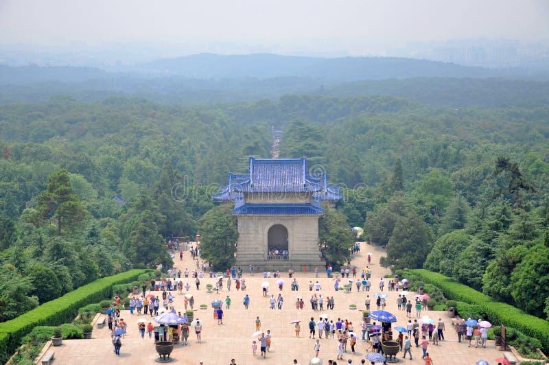 Mausoleum of Dr. Sun Yat-sen, Nanjing, China stock images