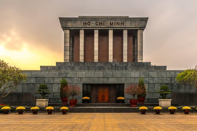 Mausoleum för Ho Chi Minh ` s, Hanoi, Vietnam royaltyfri foto