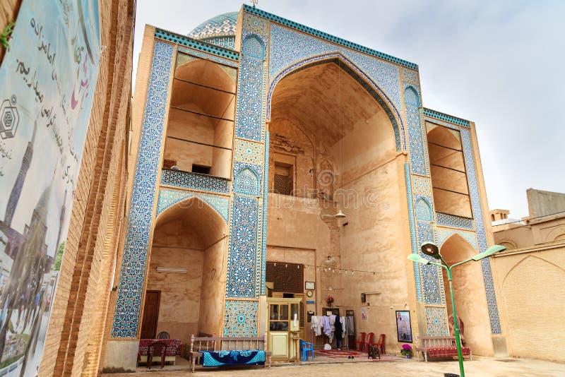 Mausoleum för Seyed Rokn-al buller i Yazd iran arkivfoto