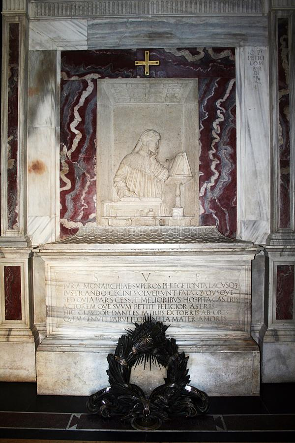 Dante tomb. The mausoleum of the famous italian poet dante at ravenna in italy royalty free stock images