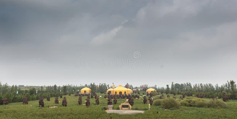 Mausoleum of Genghis Khan royalty free stock photo