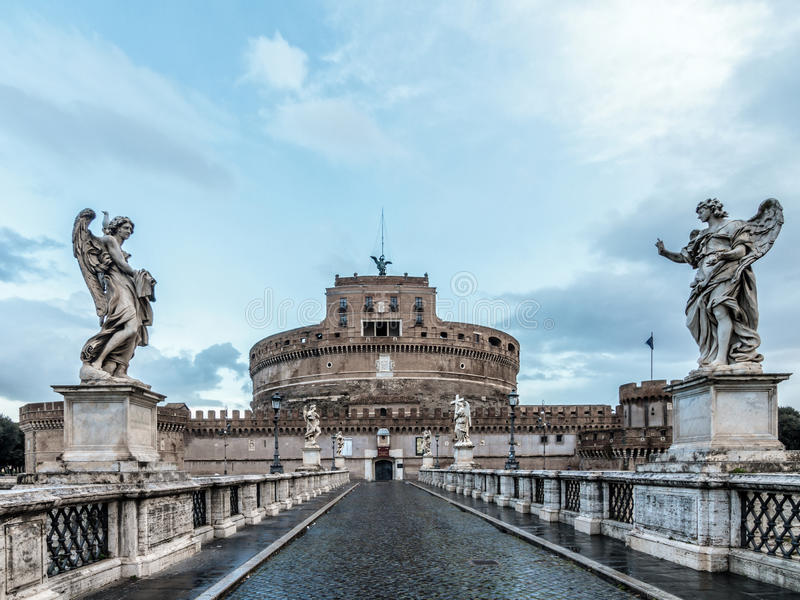 Download Mausoleum of Hadrian stock image. Image of sight, statues - 39497731