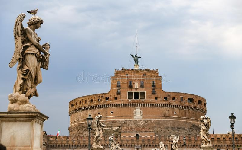 Mausoleum of Hadrian - Castel Sant Angelo in Rome, Italy. Mausoleum of Hadrian - Castel Sant Angelo in Rome City, Italy stock photography