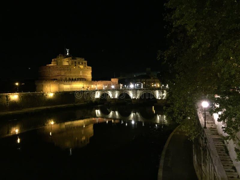Castle of the Holy Angel. The Mausoleum of Hadrian, usually known as Castel Sant`Angelo Italian pronunciation: [kaˈstɛl sanˈtandʒelo]; English stock photos
