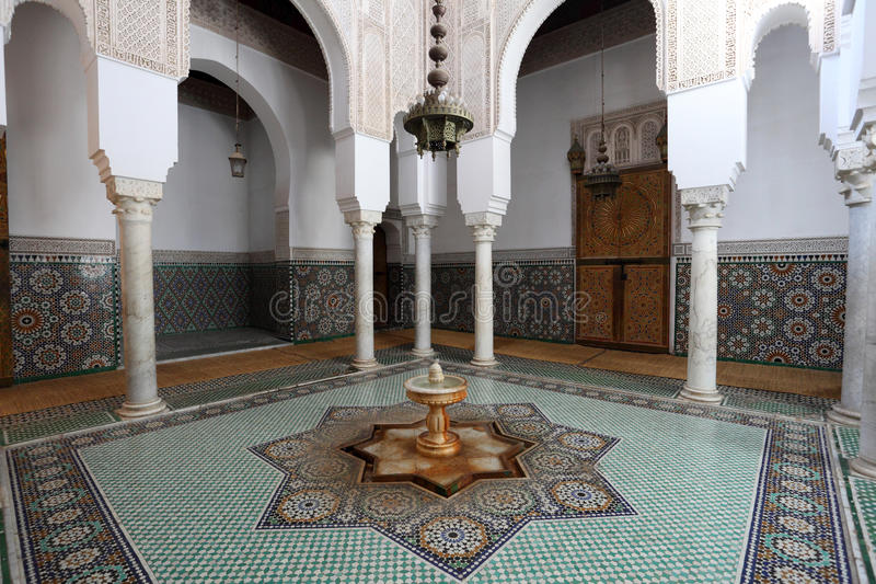 Mausoleum i Meknes, Marocko arkivfoton