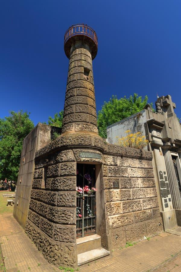 Mausoleum, kaptenen till fregate V Cabello royaltyfri fotografi