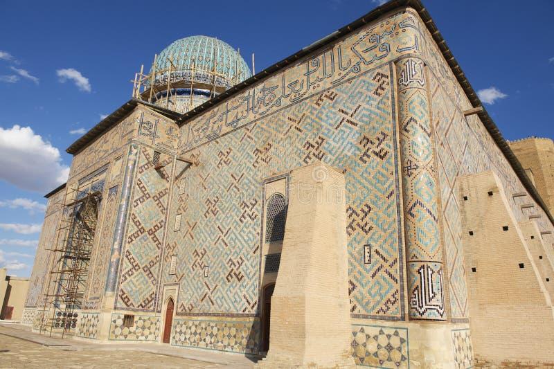 Mausoleum of Khoja Ahmed Yasavi in Turkistan, Kazakhstan. royalty free stock images