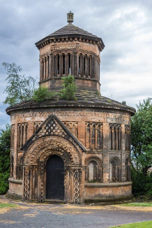 Mausoleum of Major Archibald Douglas Monteath at Glasgow Necropolis, Scotland UK. Glasgow, Scotland, UK - June 17, 2012: Necropolis. Mausoleum of Major royalty free stock photos