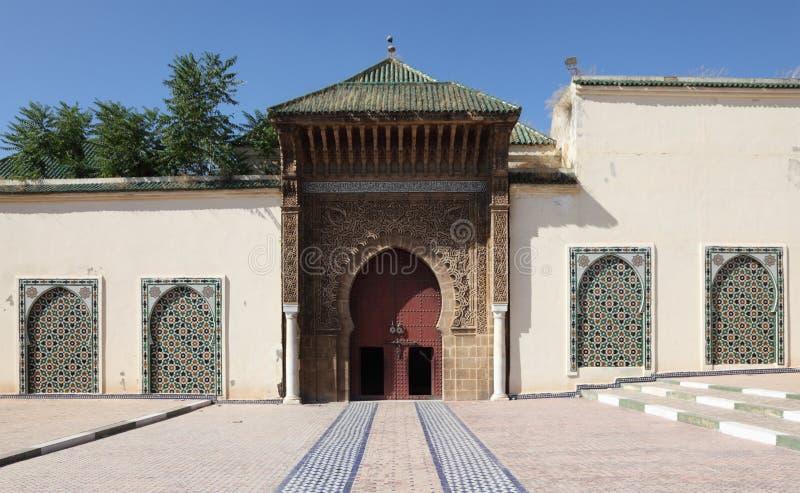 Mausoleum in Meknes, Marokko lizenzfreies stockbild