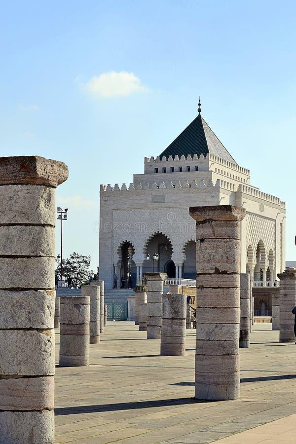 Mausoleum Mohamed 5 Rabat morocco stock photos