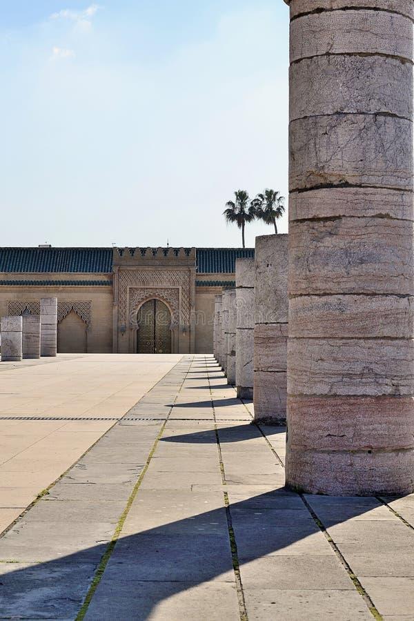 Mausoleum Mohamed 5 Rabat morocco royalty free stock photo